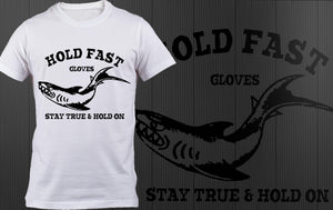 HOLD FAST GLOVES Shark t-shirt