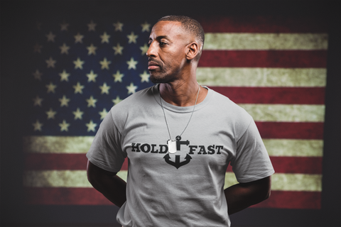 HOLD FAST brand USA soldier T-shirt