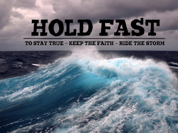 HOLD FAST brand angry sea