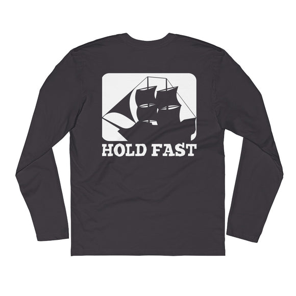 HOLD FAST brand Long Sleeve Fitted Crew