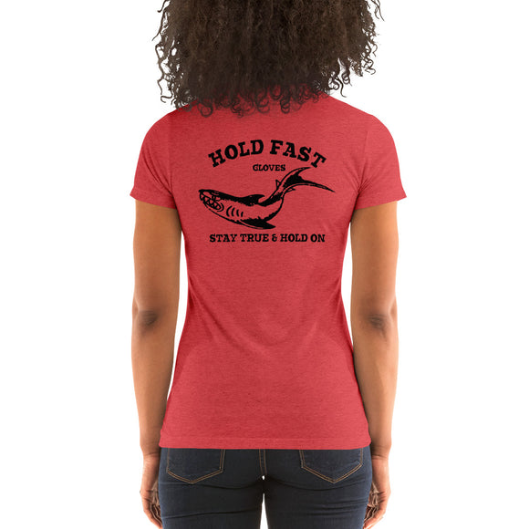 Ladies' short sleeve HOLD FAST Gloves Shark t-shirt