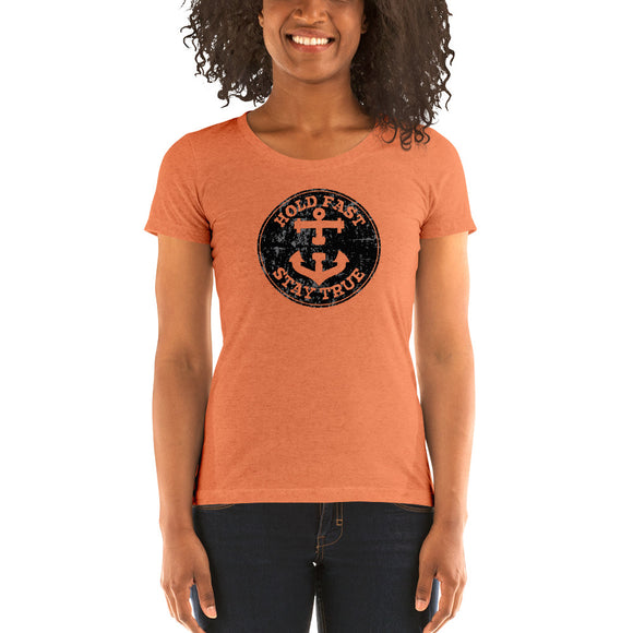 HOLD FAST brand Ladies' short sleeve t-shirt dark crest