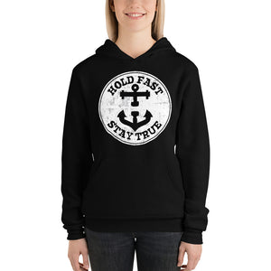 HOLD FAST brand Women's Hoodie White Circle