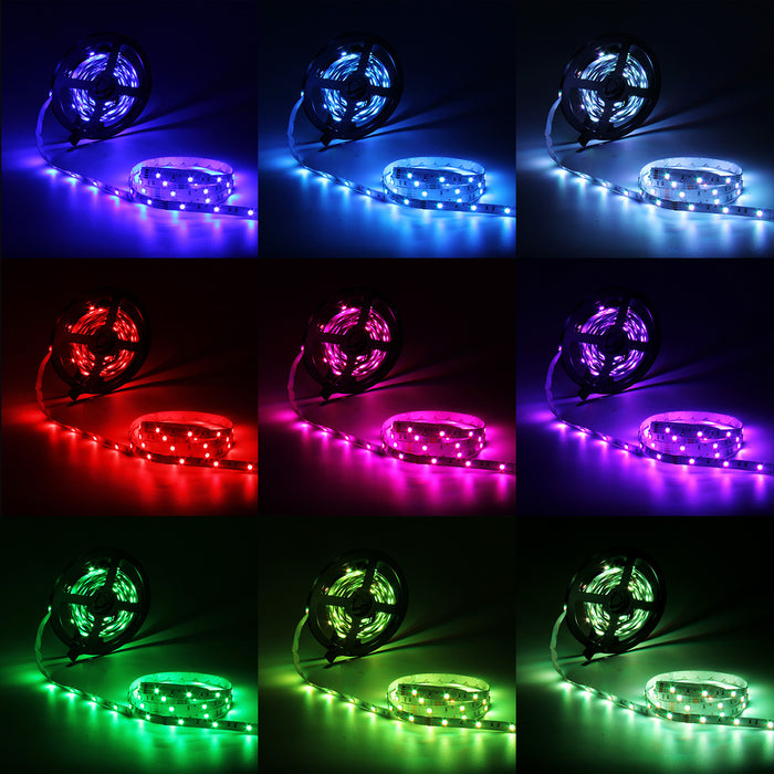 Flexible 16.4ft 5M 150LEDs SMD5050 LED Strip Light Non-Waterproof – Color: RGB