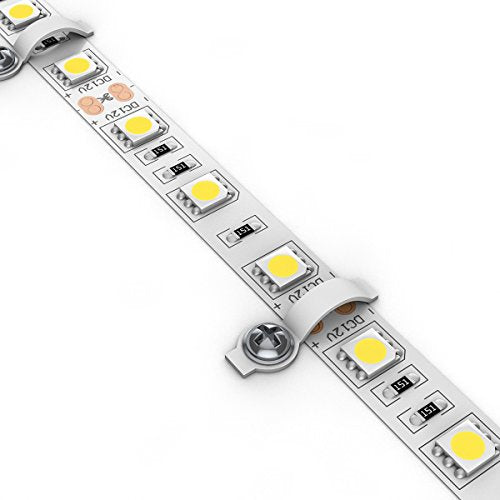 SUPERNIGHT 50pcs LED Light Strip Mounting Bracket Fixing Clip - One Side Fixing, Ideal for Waterproof LED Light Strip with Width of 10mm