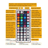 SUPERNIGHT Flexible LED Strip Light - 32.8Ft 5050 RGB 300LEDs Non-Waterproof Color Changing Full Kit with 44 Keys IR Remote Controller 24V 3A Power Supply for Holiday Party Decoration