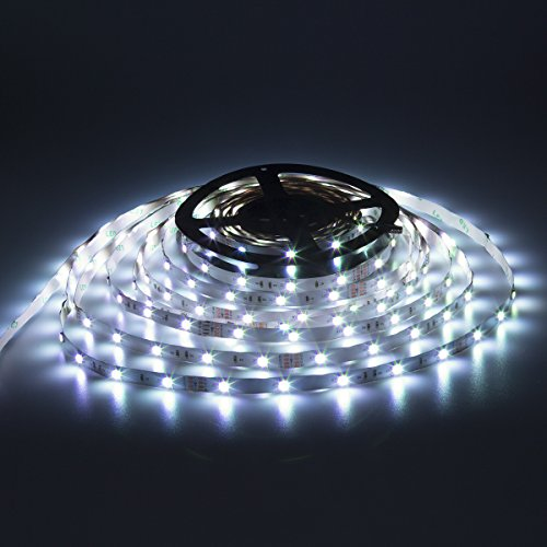 SUPERNIGHT LED Strip Light - 32.8ft 5050 RGB 300LEDs [Multi Color Includes White] Color Changing Flexible Self-adhesive Light Strip Lights for Party,Kitchen,Holiday