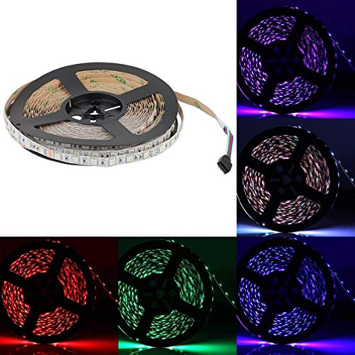 SUPERNIGHT 32.8 FT RGB LED Light Strip, 10M 600leds Multi-Color Rope Lighting Non-Waterproof Decorate Bedroom TV Backlighting Car Party Christmas
