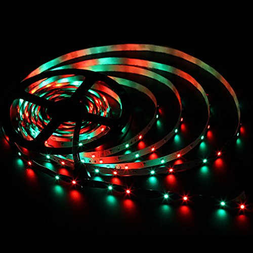 SUPERNIGHT RGB Strip Light, 16.4ft 300leds SMD 3528 Color-Changing Rope Lights,Flexible, Multi-Colors,Non-Waterproof (No Power Adapter)
