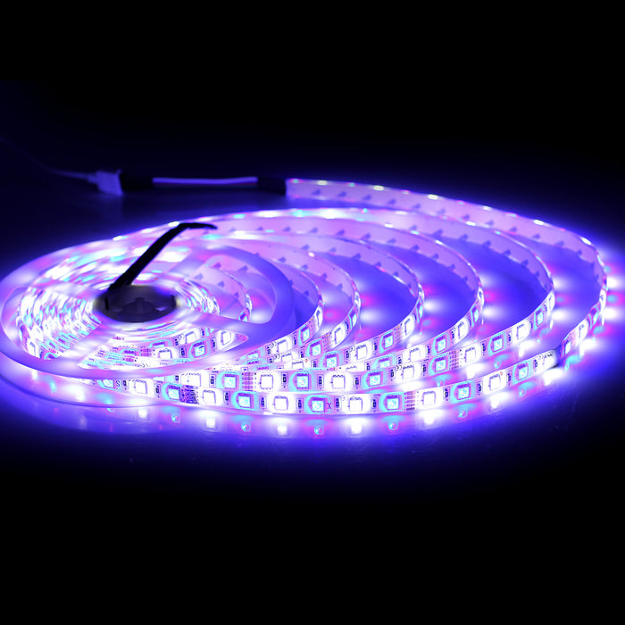 SUPERNIGHT Flexible 16.4Ft 300LEDs RGBW SMD5050 LED Strip Light IP65 Waterproof Multi Color Changing Tape Car TV Backlight Bedroom Party Festival