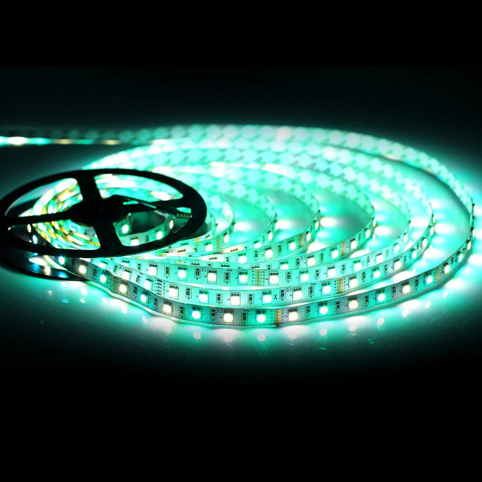 SUPERNIGHT LED Strip Light, 5050 16.4ft RGBW Non-waterproof LED Flexible Lighting, 12V 300LEDs Multi-colored LED Tape Lights