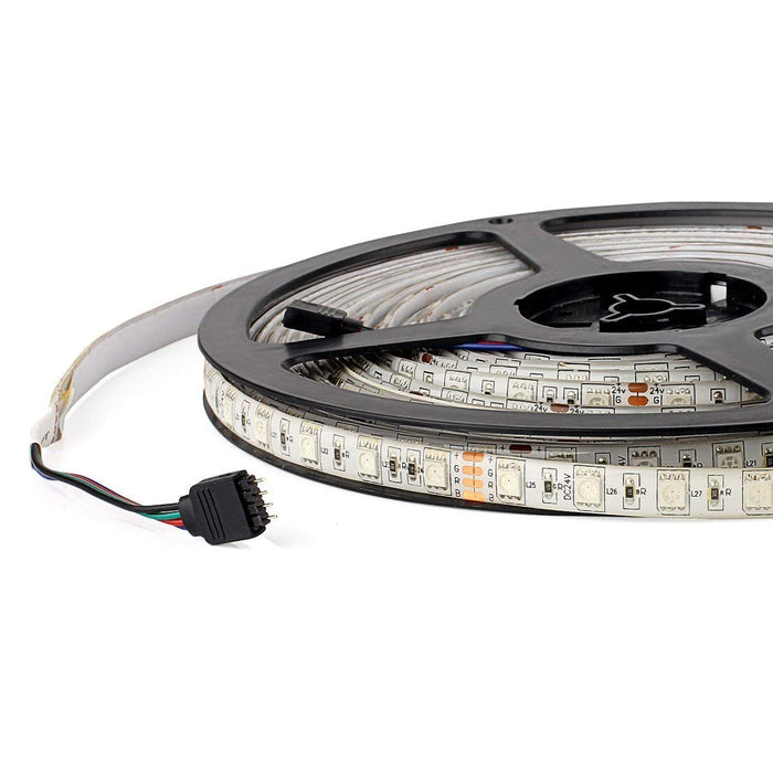 SUPERNIGHT 32.8FT 5050 SMD RGB LED Strip Light,  Flexible Super Long IP65 Waterproof LED Strip 60LEDs/M 600LEDs/Reel LED Light Tape DC24V Christmas Decorative LED Lighting