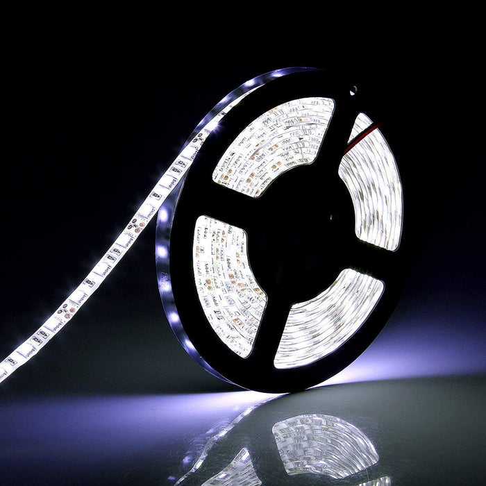 SUPERNIGHT White LED Strip Lights, 16.4FT SMD 5050 Cool White Rope Light, Waterproof Lighting