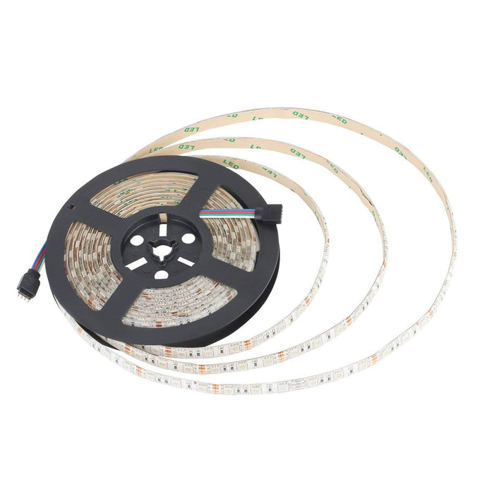 SUPERNIGHT 16.4FT SMD 5050 Waterproof 300LEDs RGB Flexible LED Strip Light Lamp Kit + 44Key IR Remote Controller(Power supply is not included)