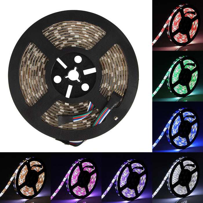 SUPERNIGHT LED Strip Light, RGBW, Waterproof 16.4ft 5050 300leds LED Strip Flexible Light, RGB with White Mixed Color Tape for TV Backlighting, Bedroom, Car, Carbin