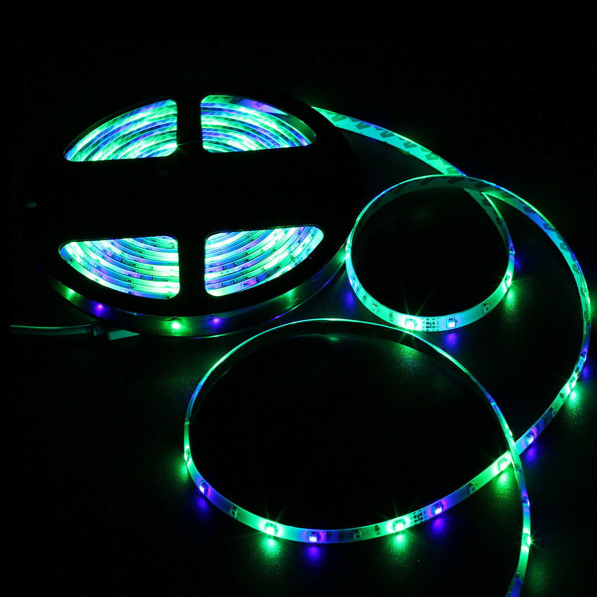 SUPERNIGHT RGB LED Light Strip Waterproof IP65, 16.4ft 3528 SMD 300leds Multi-Color Rope Lighting Flexible Tape