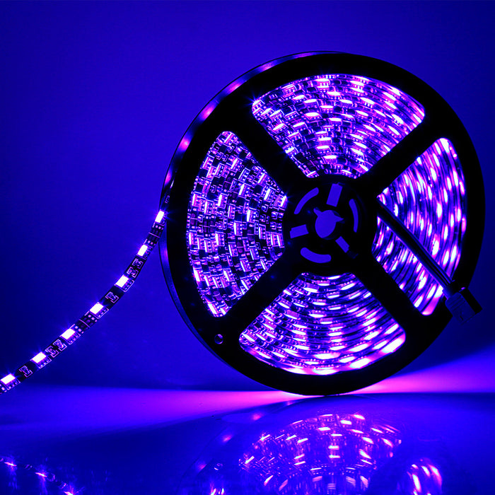 SUPERNIGHT 16.4ft 5050 RGB Strip Waterproof Black PCB, 300 LED Color Changing Rope Lights