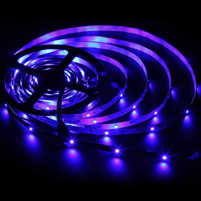 SUPERNIGHT Two 16.4Ft RGB 3528 SMD 300LEDs Strip Lights Waterproof, Total 32.8Ft 600LEDs Flexible Tape Lights