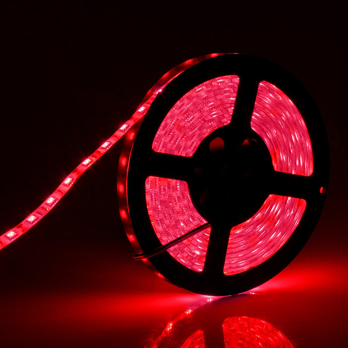SUPERNIGHT 16.4FT SMD 5050 Waterproof 300LEDs Red LED Flash Strip Light, LED Flexible Ribbon Lighting Strip 12V 60W