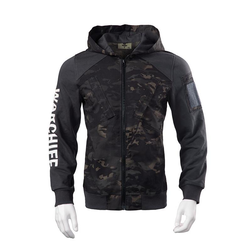 New Men Outdoor hooded Camouflage Sweatshirt