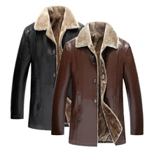 Load image into Gallery viewer, Mens Leather Jackets Classic Motorcycle Bike Cowboy Jacket Male Velvet Casual Coats