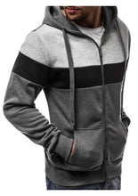 Load image into Gallery viewer, Men New Patchwork Mixed Colors Casual Hoodies
