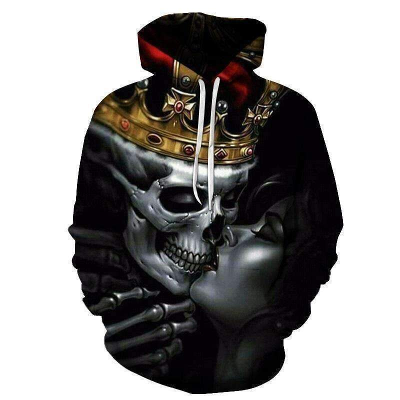 Men's Skull Fashion 3D Streetwear Hoodies