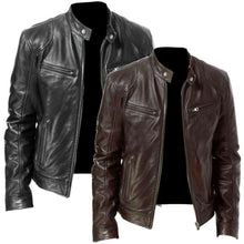 Load image into Gallery viewer, High Quality Windshield Men Leather Jacket