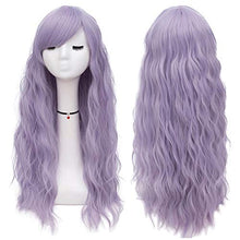 Load image into Gallery viewer, Long Mint Green Wigs Women's Fluffy Curly Wavy Cosplay Wigs for Girl