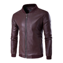 Load image into Gallery viewer, Men's Slim Trend Casual Leather Jacket