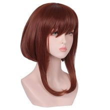 Load image into Gallery viewer, Medium Long Brown Anime Cosplay Wig Cut Bangs