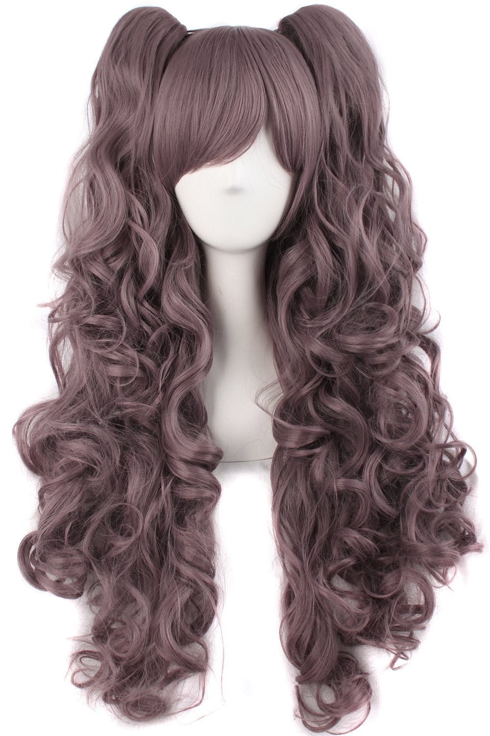 Long Curly Lolita Cosplay Pink Wigs for women Pigtail Ponytail junko enoshima wig