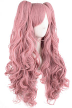 Load image into Gallery viewer, Long Curly Lolita Cosplay Pink Wigs for women Pigtail Ponytail junko enoshima wig