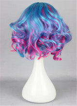Load image into Gallery viewer, Kadiya Short Curly Wavy Layered Lolita Harajuku Cosplay Wigs Costume Hair Pastel Pink