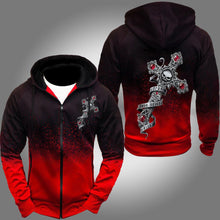 Load image into Gallery viewer, Men's Gradient Color Zipper Hoodies
