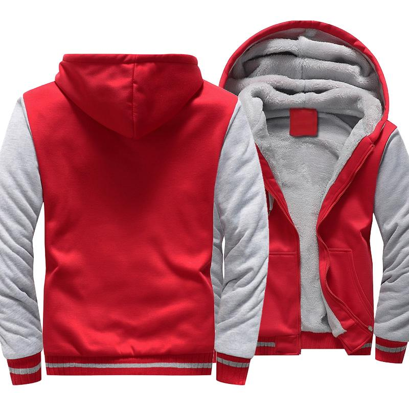 Men's Fleece Splice Zipper Casual Solid Color Hoodies