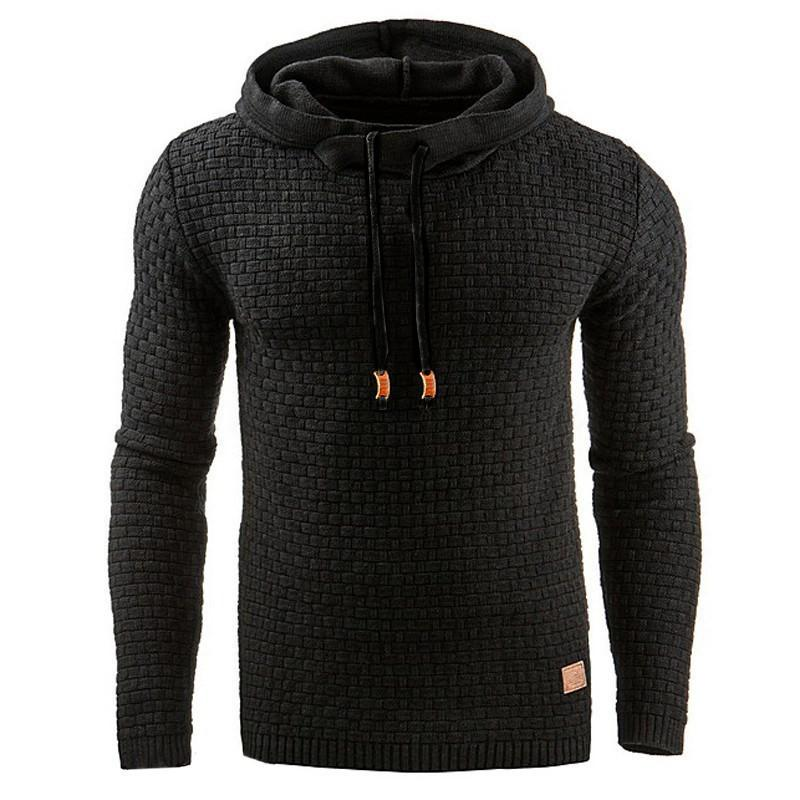 Men's Jacquard Sweater Long Sleeve Hoodie Sweatshirt jacket
