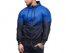 Load image into Gallery viewer, Men's Stripe 3D Gradient Casual Sports Hoodies