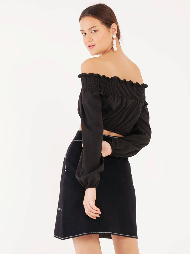 Karla Knit Skirt in Black