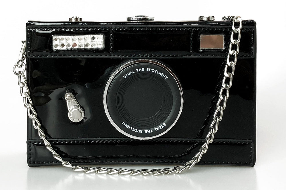 Camera Box Clutch in Black