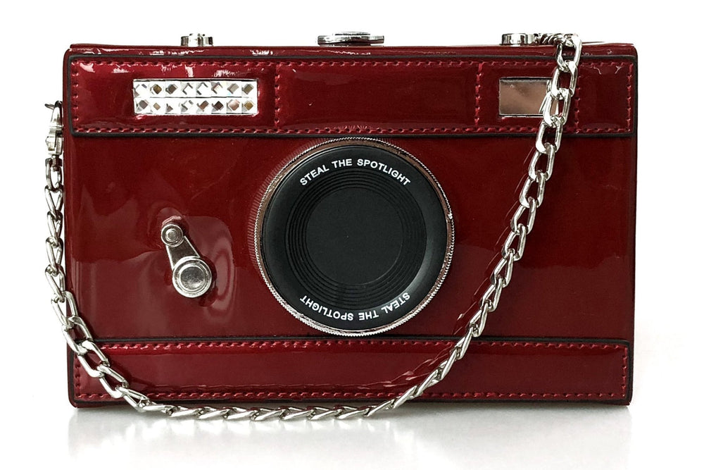 Camera Box Clutch - Deep Red
