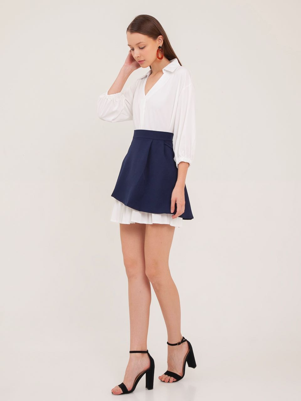 8fdf02859c6 Lucy Pleated Shirt Dress with Skirt – THE SCARLET ROOM