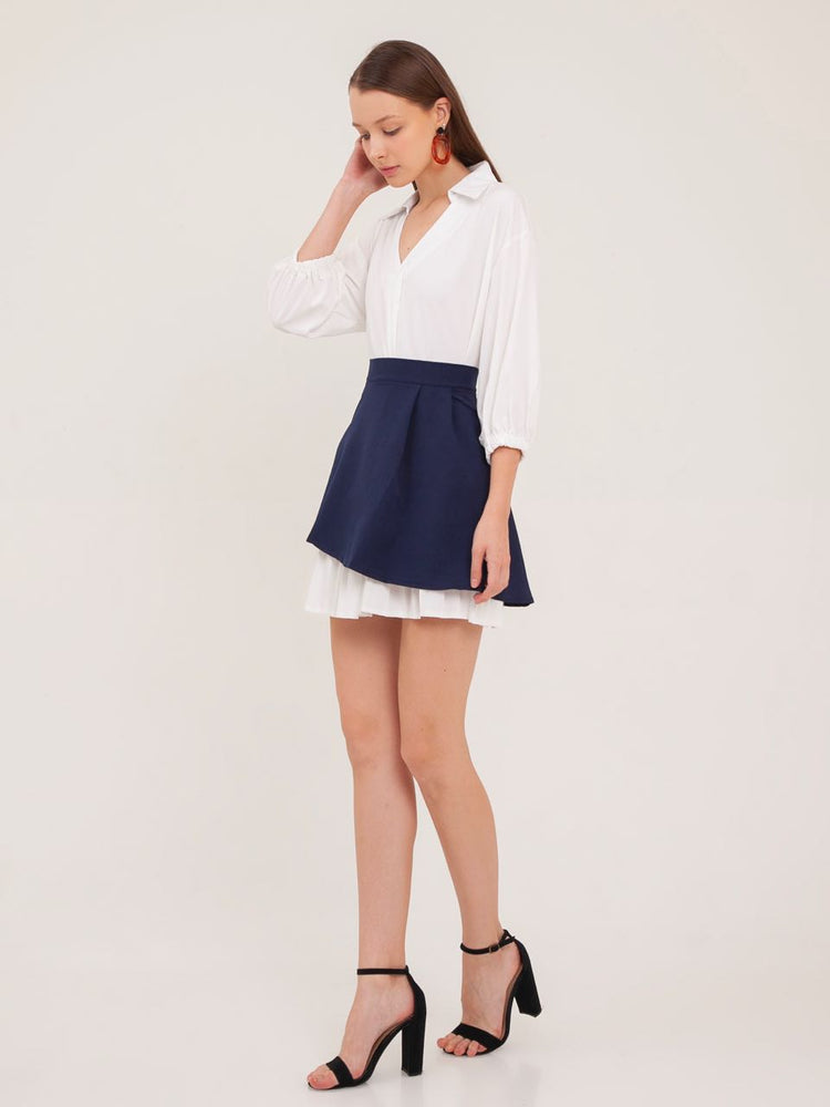 Lucy Pleated Shirt Dress with Skirt