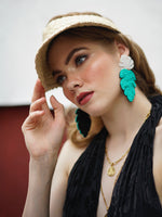 Cancun Earrings - Teal