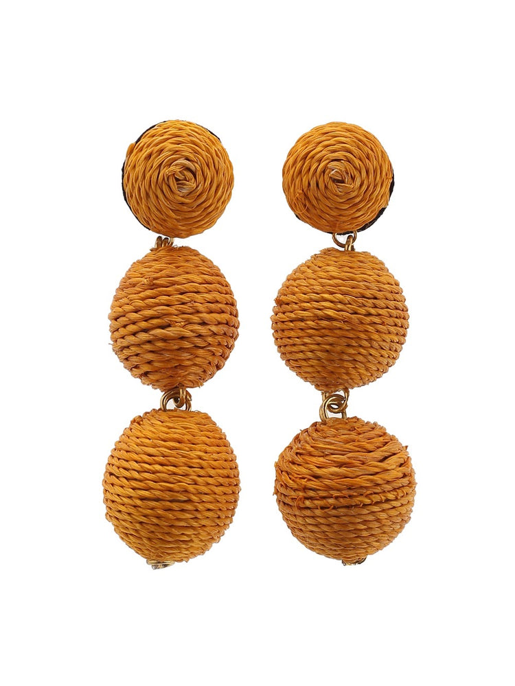 Havana Earrings - Papaya