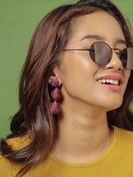 Havana Earrings - Plum