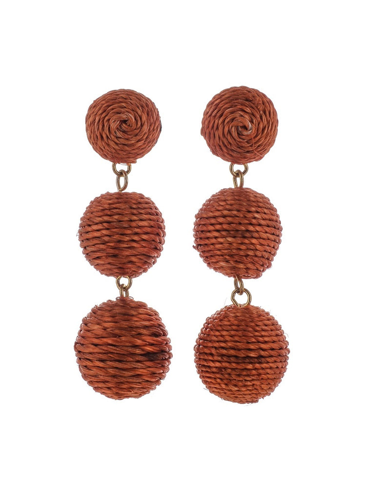 Havana Earrings - Pumpkin