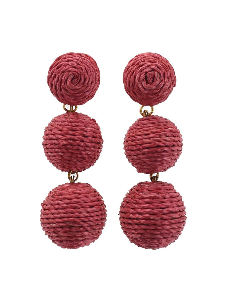 Havana Earrings - Old Rose