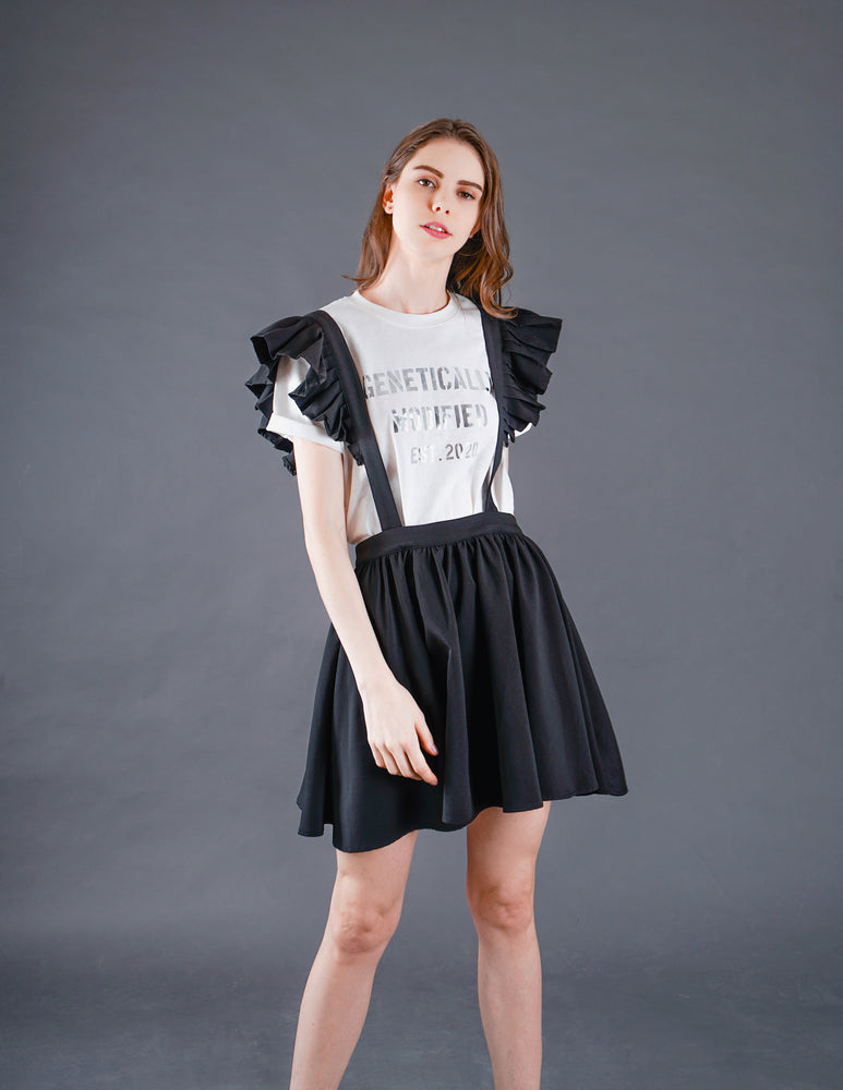 Poppy Winged Pinafore in Black