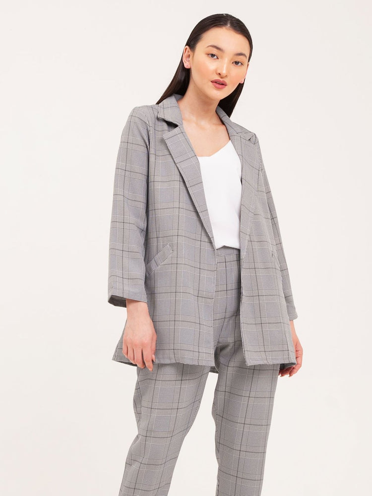 Kimi Oversized Blazer and Pants Set in Gray
